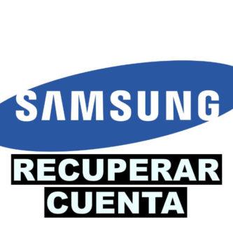 Como recuperar cuenta de Samsung