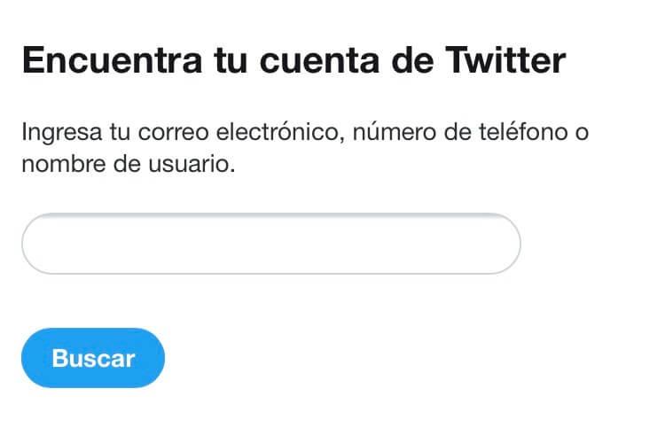 Encuentra tu cuenta de Twitter