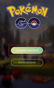 Recuperar contraseña de Pokemon Go paso 1