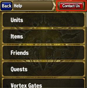 recuperar cuenta app brave frontier paso 1