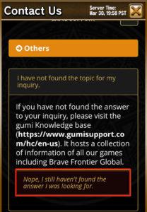 recuperar cuenta app brave frontier paso 4