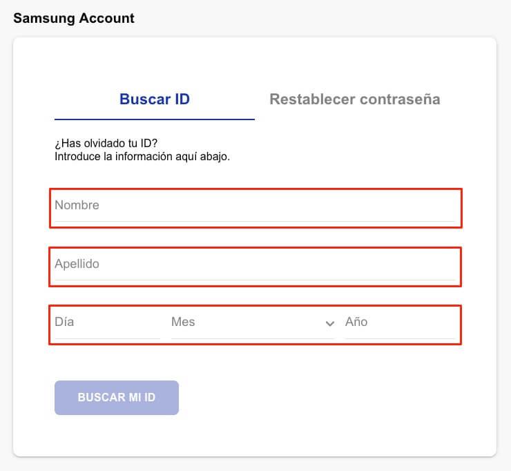 recuperar email cuenta de samsung 1