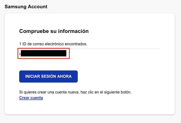 recuperar email cuenta de samsung 2