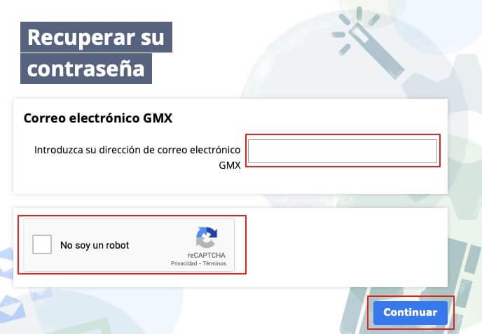 Recuperar cuenta de gmx paso 3