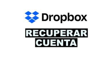 como recuperar una cuenta de Dropbox