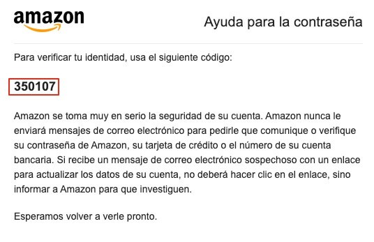 Recuperar contraseña de Amazon paso 5