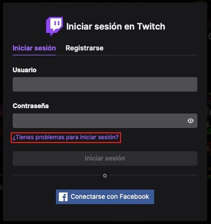 Recuperar contraseña de Twitch paso 2