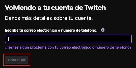 Recuperar contraseña de Twitch paso 3