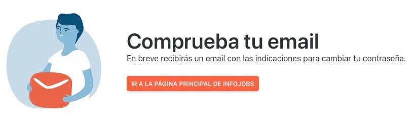 Recuperar correo electronico en InfoJobs paso 2