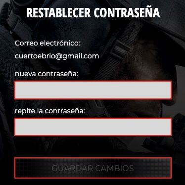 Como reiniciar nuestra contraseña en Call of Duty Warzone paso 5