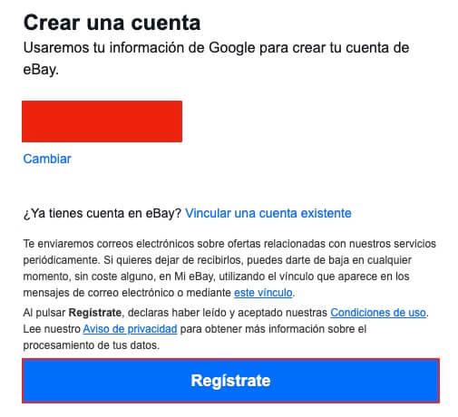 Entrar con un servicio a Ebay paso 3