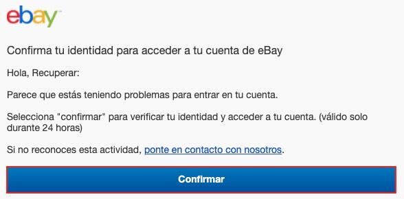 Recuperar contraseña eBay paso 5