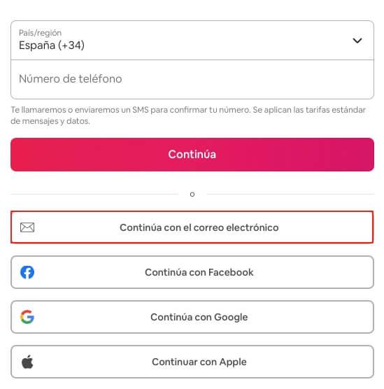 Recuperar cuenta de Airbnb con email paso 3
