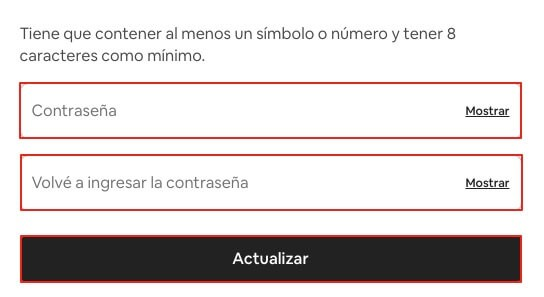 Recuperar cuenta de Airbnb con email paso 8