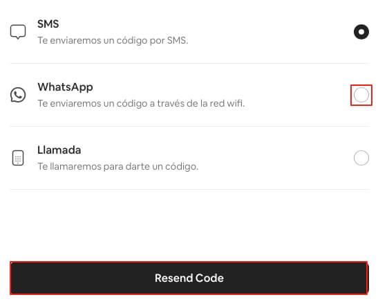 Recuperar cuenta de Airbnb con telefono paso 3